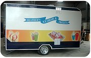 Heather's Ice Cream & Pikelets Trailer - Closed Up