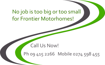 No Job Is Too Big Or Too Small For Frontier Motorhomes
