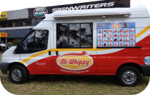 Side View of Mr Whippy Van