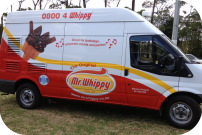 Non Service Side View of Mr Whippy Van