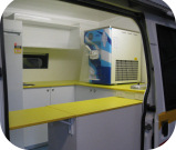 Interior Serving Area of Mr Whippy Van - Close Up
